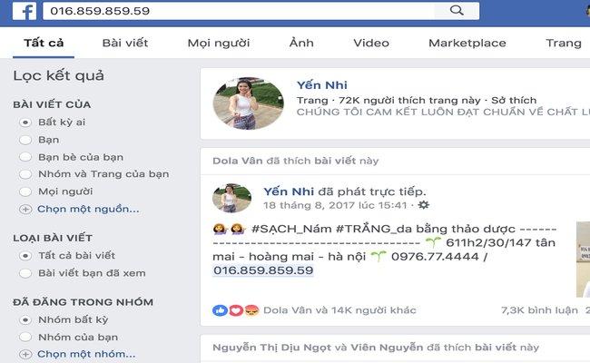 tra so dien thoai qua facebook