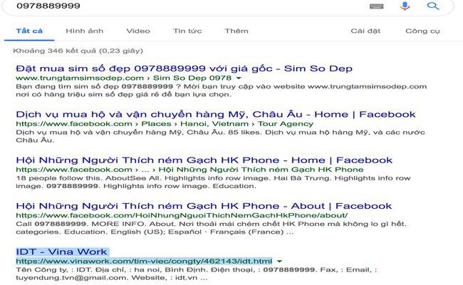 tra so dien thoai qua google