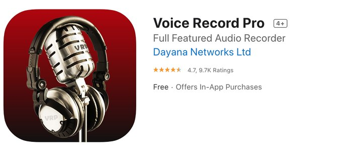 ung dung ghi am cuoc goi Voice Record Pro